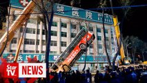 Sinkhole swallows bus in northwest China, killing six, ten missing