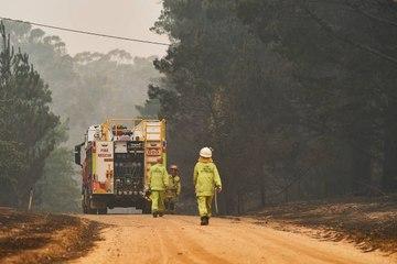 Amerikanische Feuerwehrmänner eilen australischen Kräften zur Unterstützung