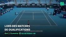 À cause des feux, cette joueuse de l'Open d'Australie qui menait le jeu s'est écroulée en plein match