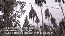 Vulkan Taal überzieht einfach alles mit Asche