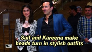 Saif and Kareena make heads turn in stylish outfits