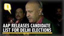 Delhi Elections: AAP Names Candidates For All 70 Seats, Sisodia Addresses Media