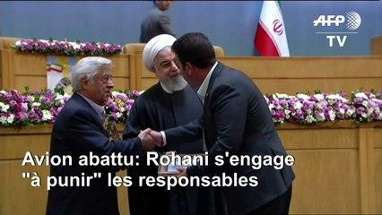 """Rohani: l'Iran doit """"punir"""" tous les responsables de la catastrophe"""