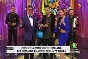 Conocida modelo colombiana fue detenida en 'Búnker del hampa' de Punta Negra