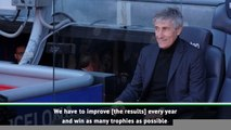 Setien aiming to win every trophy with Barca