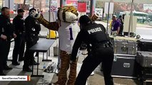 Viral Secret Service Photo Shows Mascot Being Screened At Game Trump Attended