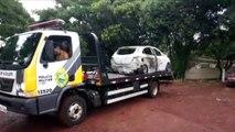Carro incendiado é encontrado abandonado perto do Contorno Oeste, em Cascavel