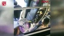 Otobüste rahatsızlanan kadın, şoför tarafından hastaneye ulaştırıldı