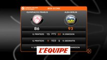 L'Olympiakos chute à domicile contre l'Alba Berlin - Basket - Euroligue (H)