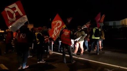 Blocage du dépôt des bus TUL vendredi 15.01.2020 contre la réforme des retraites.