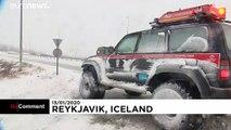 L'Islande paralysée par la neige