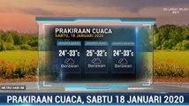 Prakiraan Cuaca Sore Hingga Malam, 18 Januari 2020