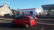 Extinction Rebellion activists block BP petrol station in Cambridge