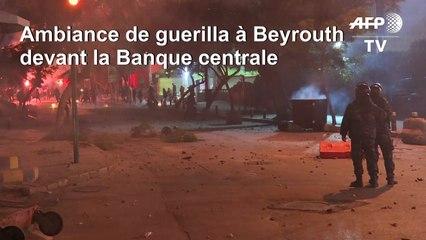 Beyrouth: échauffourées entre police et manifestants près de la Banque centrale