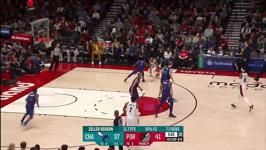 Charlotte Hornets 112 - 115 Portland Trail Blazers