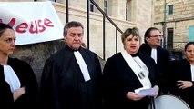 Les avocats du barreau de la Meuse manifestent devant le palais de justice de Bar-le-Duc