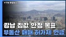 """靑 """"강남 4구 집값 안정이 1차 목표""""...'부동산 매매 허가제'도 언급 / YTN"""