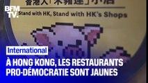 À Hong Kong, les commerces pro-démocratie s'habillent en jaune