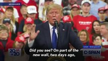 Trump Says Migrants Getting Stuck Climbing New Border Wall Is A 'Beautiful Sight'