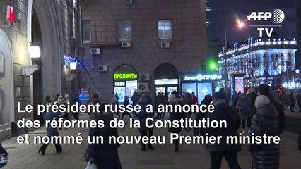 Des moscovites réagissent à la démission du Premier ministre