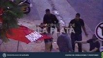 Así detuvo la policía una pelea callejera en la puerta de un boliche céntrico