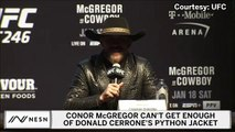 Conor McGregor Can't Get Enough Of Donald Cerrone's Python Coat