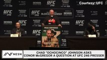 Chad Ochocinco Johnson Asks Conor McGregor Question At UFC 246 Presser
