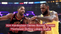 Kim Kardashian At A Lakers Game
