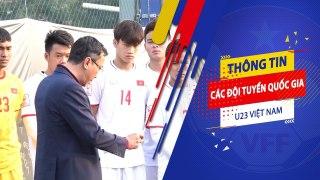 Phó chủ tịch thường trực VFF Trần Quốc Tuấn đọc thư động viên của Thủ tướng cho U23 Việt Nam