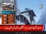 Snowfall in Aazad  Kashmir, 77 people dead and more than 60 injured