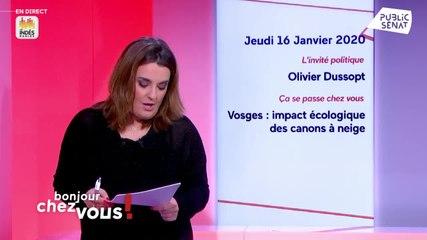 Olivier Dussopt - Public Sénat jeudi 16 janvier 2020