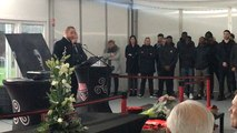 Cérémonie en hommage à Nathaël Julan au stade de Roudourou
