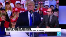 What is American public opinion on Trump impeachment case?