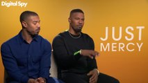 Michael B. Jordan &  Jamie Foxx talk getting into character for Just Mercy
