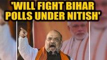 Amit Shah in Bihar: Says no rift with JDU, will fight Bihar polls under Nitish Kumar's leadership