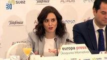 """Ayuso afirma que Madrid hará """"todo lo que está en su mano"""" para acoger el Mobile World Congress"""
