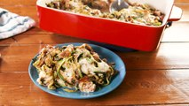 This French Onion Chicken Zoodle Bake Makes Healthy Eating Easy