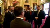 Adam Hills talks about beard conversation with Prince Harry
