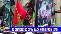 13 distressed OFWs back home from Iraq
