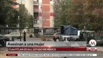 Acribillan a mujer en unidad habitacional de Cuautitlán Izcalli