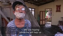 Homes destroyed after Philippines volcano eruption