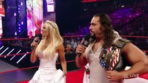 WWE RAW-Roman Reigns interrumpts the wedding days of Lana and Rusev,with who marry Lana this time