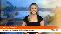 Macquarie downgrades Magellan (ASX:MFG): Aus shares 0.5% higher at noon