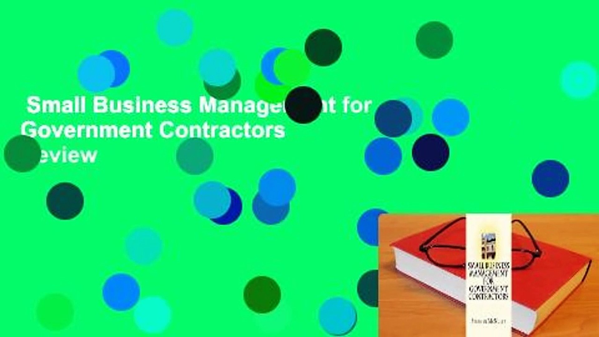 Small Business Management for Government Contractors  Review