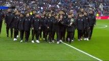 El Infantil B del Real Madrid presenta La Liga Promises al Santiago Bernabéu