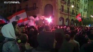 Manifestantes exigem novo governo no Líbano