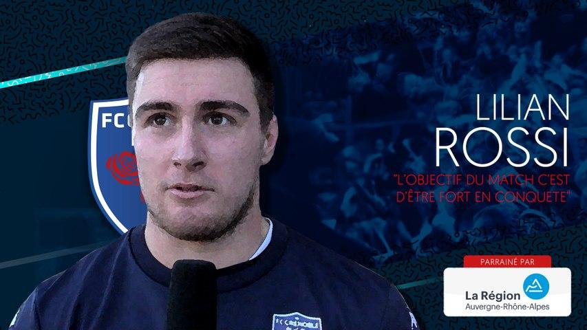 """Rugby : Video - Lilian Rossi """"l'objectif du match c'est d'être fort en conquête"""""""