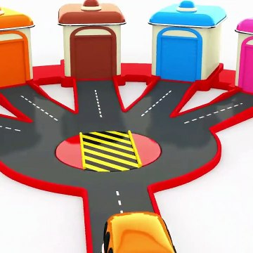Learn Colors With Street Vehicles Parking  Educational Videos For Children
