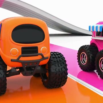 Colors For Children To Learn With Monster Street Vehicles Toys