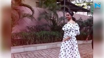 Watch, Deepika Padukone goes retro in black and white polka dot dress